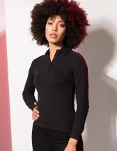 Women`s Long Sleeved Stretch Polo